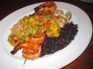 Achiote Grilled Prawns at Joe Caribe