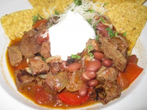 Beef & Bean Chile at Joe Caribe