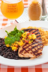 Grilled Salmon with Tropical Fruit Salsa