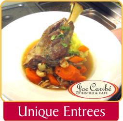 Unique Entrees at Joe Caribe