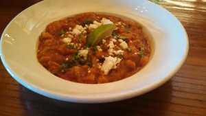 Mexican-style Bread Soup at Joe Caribe